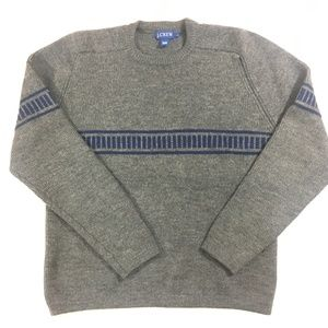 J.CREW GRAY WOOL SWEATER 90s STYLE SIZE LARGE